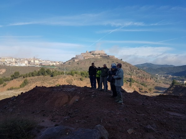 Experts from the University of Barcelona visit the Terrera Nova in Cardona