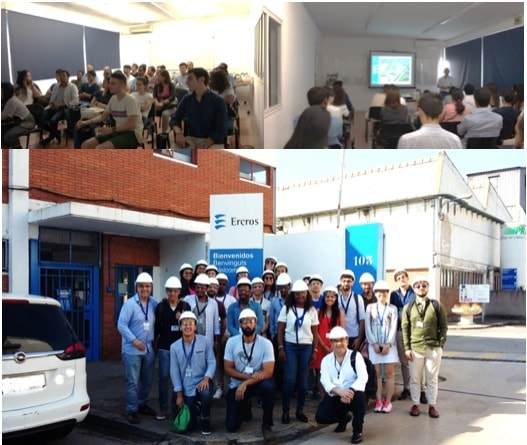 Students of the Mundus Erasmus Program  of 20 nationalities visit the factory of Cerdanyola