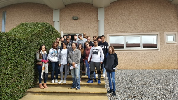 Students of chemistry visit the Ercros factory in Monzón