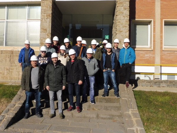 Students of Biello Aragón Institute visit the factory of Ercros in Sabiñánigo